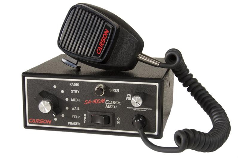 mechanical tone sirens, carson sirens ems sirens, emt sirenssa 400m classic mechanical console mount siren