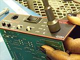 Worker assembling mechanical components