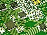 Closeup of printed circuit board